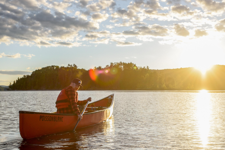 Halte Poisson Blanc camping canot