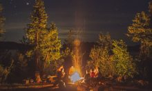 Campsites by the mountain