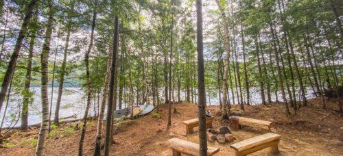 île Poisson Blanc l'équateur camping 3